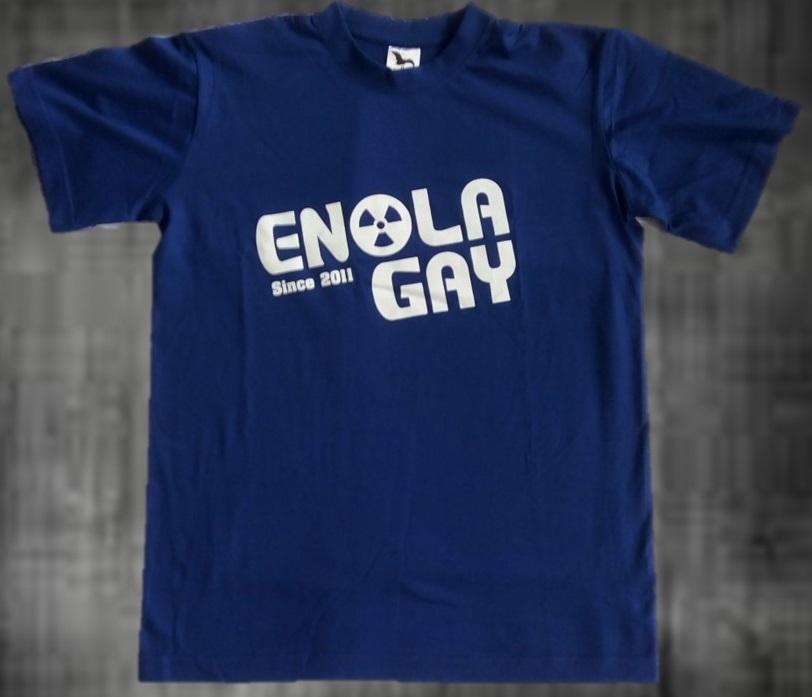 triko Enola Gay pánské modré